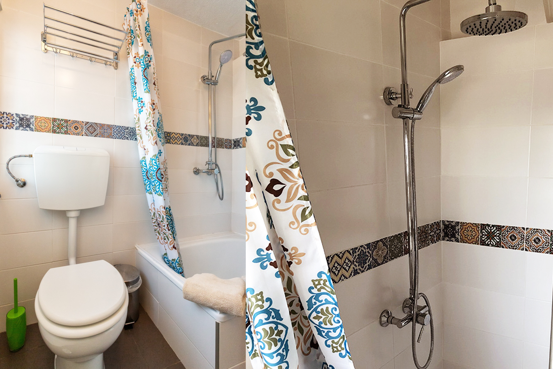 bathroom seaview room pensao bicuar olhao algarve room to rent