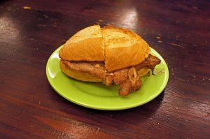 portuguese bifana pork sandwich