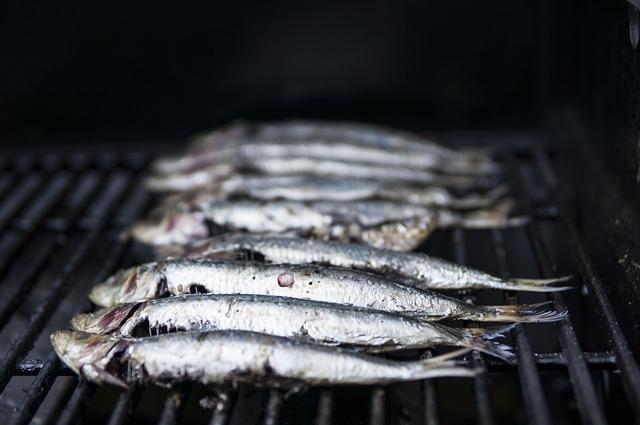 grilled sardines port in Olhão